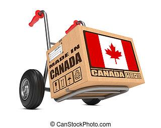 Made in Canada - Cardboard Box on Hand Truck. - Cardboard ...