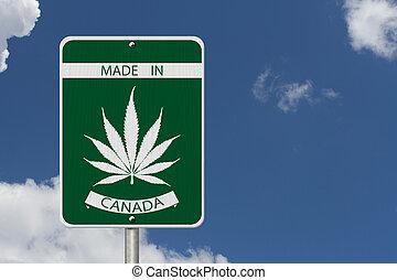 Made in Canada Marijuana Sign