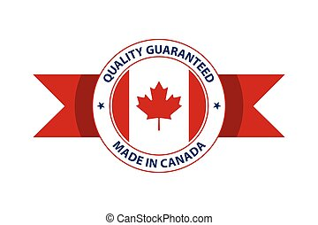Made in Canada quality stamp. Vector illustration
