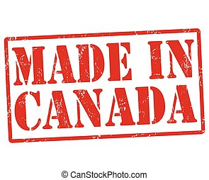 Made in Canada stamp - Made in Canada grunge rubber stamp on...