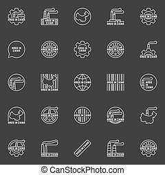 Made in China business icons