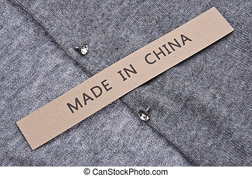 Made in China Clothing Concept
