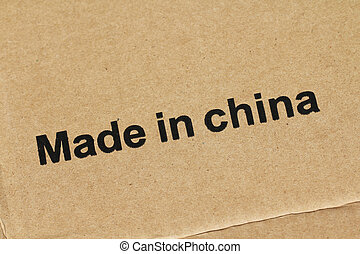 Made in China on cardboard box