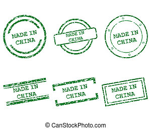 Made in China stamps
