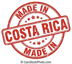 made in Costa Rica red grunge round stamp