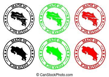 Made in Costa Rica - rubber stamp