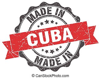 made in Cuba round seal
