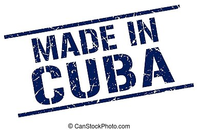 made in Cuba stamp