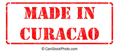 Made in Curacao on Red Stamp.