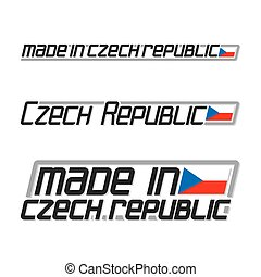 Made in Czech Republic - Vector illustration of the logo for...