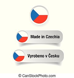 Made in Czechia label vector