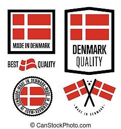 Made in Denmark label set