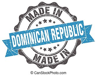 made in Dominican Republic round seal