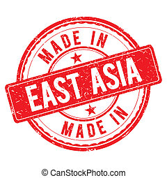 Made in EAST ASIA stamp