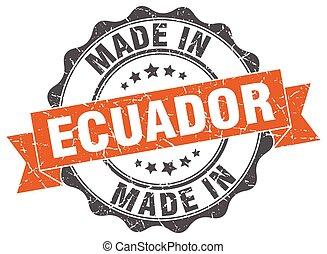 made in Ecuador round seal