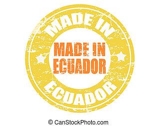 Made in Ecuador stamp - Made in Ecuador grunge rubber stamp