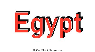 Made in Egypt red vector graphic. Round rubber stamp isolated on white background. With vintage texture.