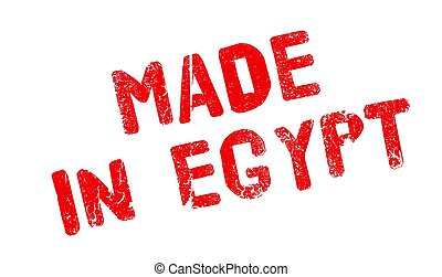 Made In Egypt rubber stamp. Grunge design with dust ...
