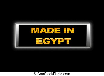 Made in Egypt.