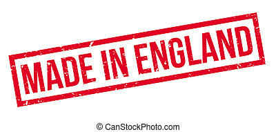 Made in England rubber stamp
