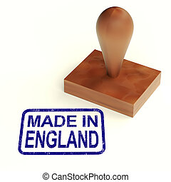 Made In England Rubber Stamp Shows English Products