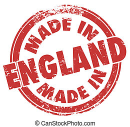 Made in England Stamp Great Britain United Kingdom UK - Made...