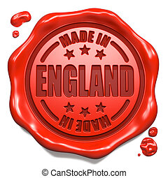Made in England - Stamp on Red Wax Seal. - Made in England...