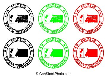 Made in Equatorial Guinea - rubber stamp - vector,...