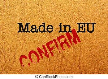 Made in EU cofirm