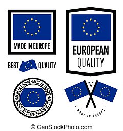 Made in Europe label set