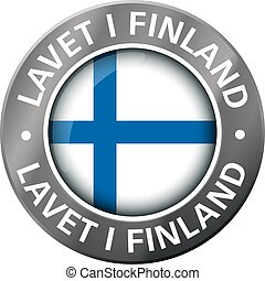 made in finland flag metal icon