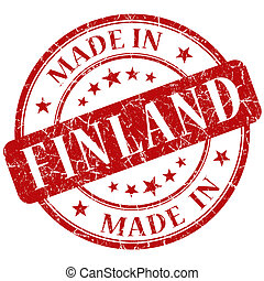 Made In Finland red stamp