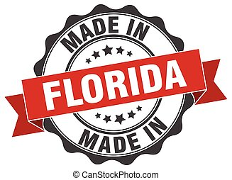 made in Florida round seal