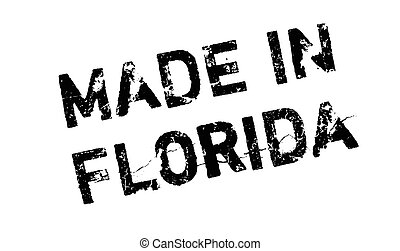 Made In Florida rubber stamp