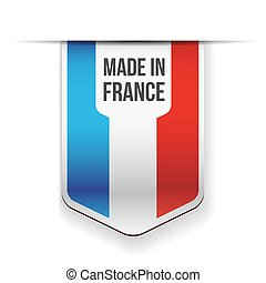 Made in France flag vector