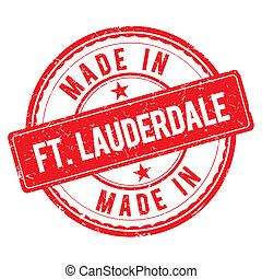 Made in FT-LAUDERDALE stamp