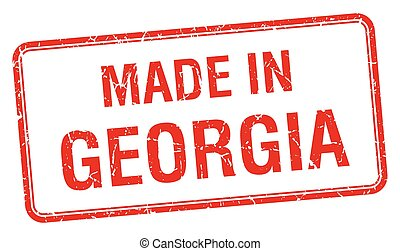 made in Georgia red square isolated stamp