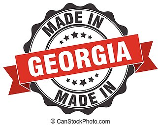 made in Georgia round seal