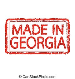 Made in GEORGIA stamp text Illustration