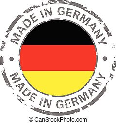 made in germany flag grunge icon