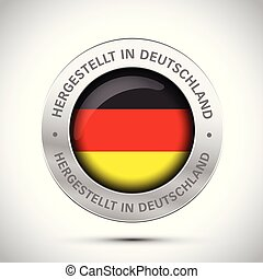 made in germany flag metal icon