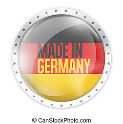 made in germany round opacity button icon 3d render
