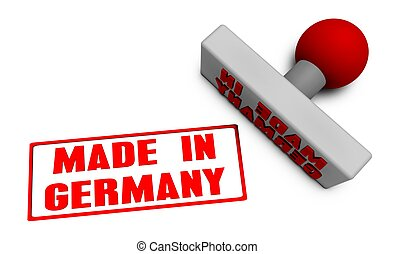 Made in Germany Stamp