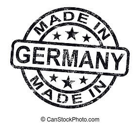 Made In Germany Stamp Shows German Product Or Produce - Made...