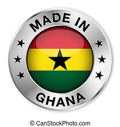 Made In Ghana Silver Badge - Made in Ghana silver badge and...