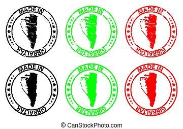 Made in Gibraltar - rubber stamp