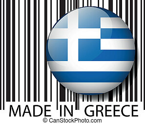 Made in Greece barcode. Vector illustration