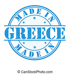 Made in Greece stamp - Made in Greece grunge rubber stamp on...