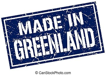 made in Greenland stamp