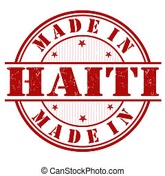 Made in Haiti stamp - Made in Haiti grunge rubber stamp on...